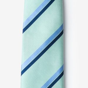 Axel tie in mint green made from silk